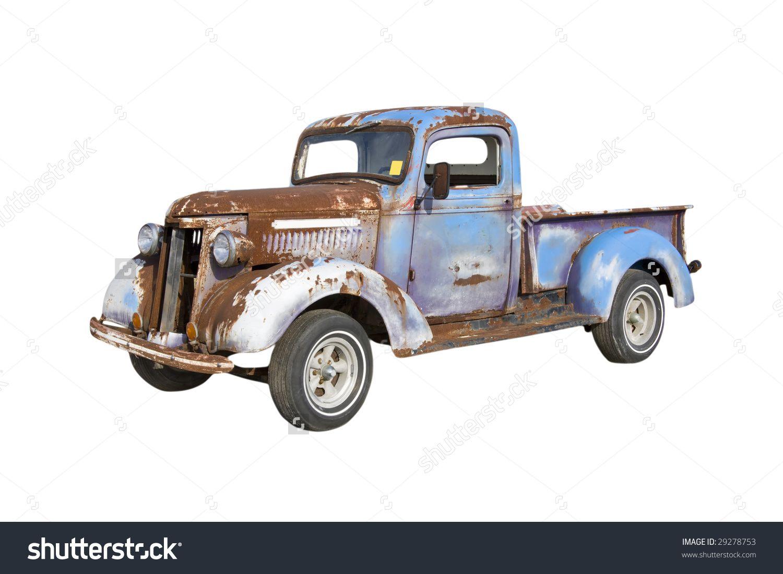 stock-photo-old-pickup-truck-starter-for-a-major-restoration ...