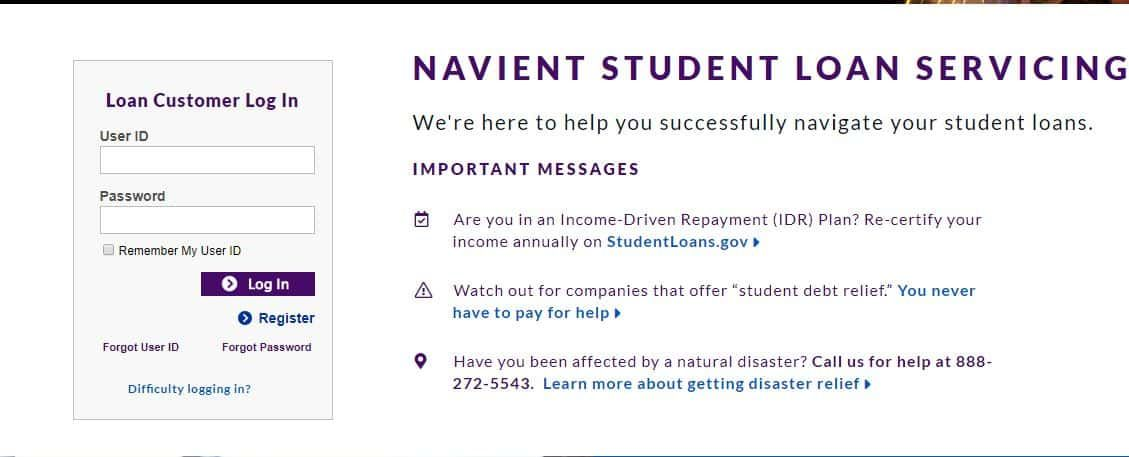 navient account sign in