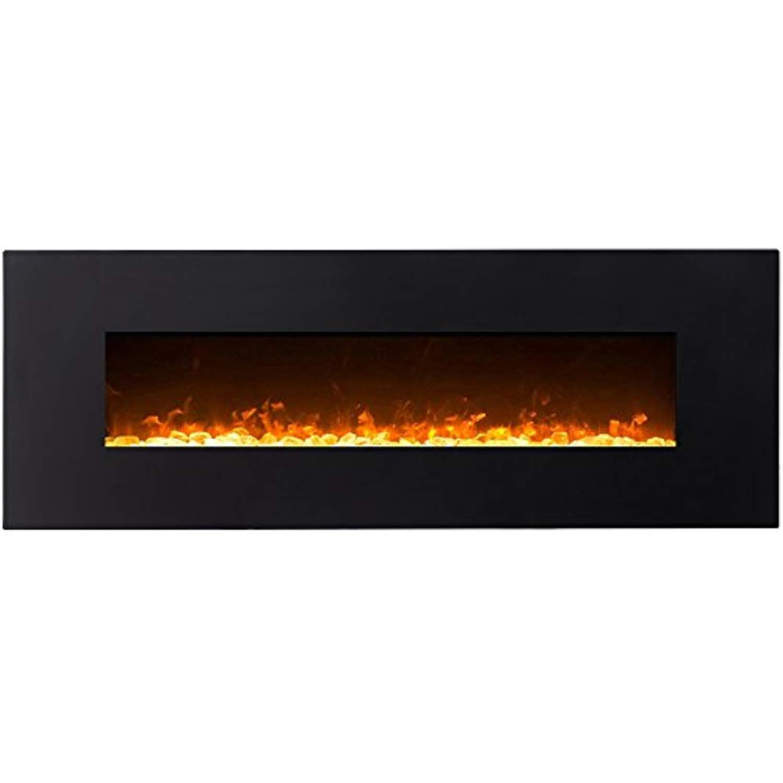 Prime Regal Flame Erie Black 72 Crystal Ventless Heater Electric Interior Design Ideas Grebswwsoteloinfo