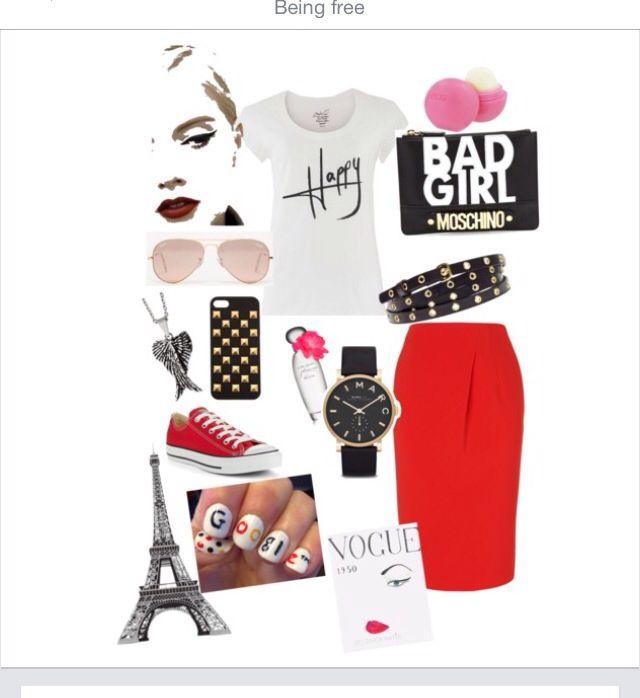 Red black & white