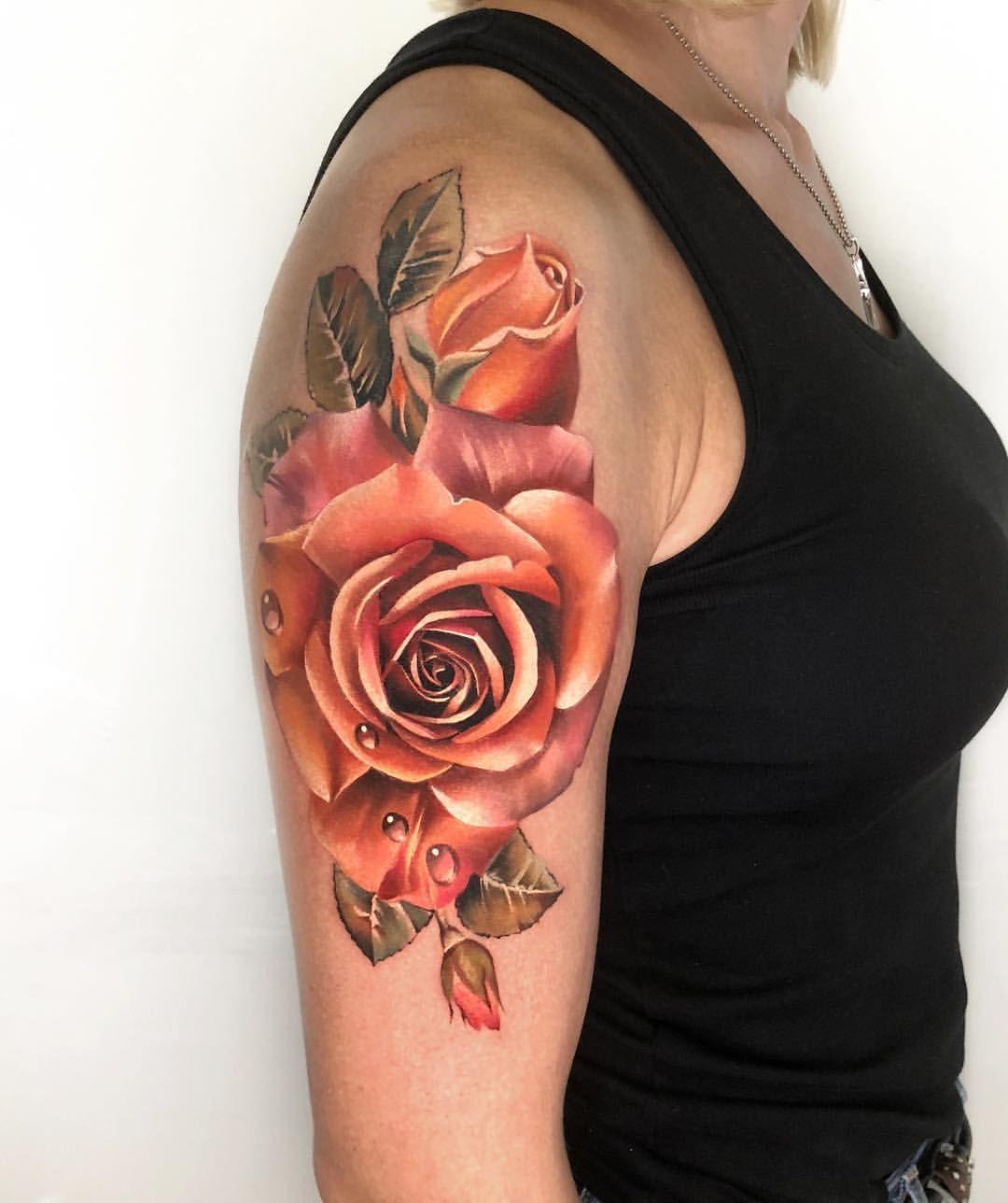 Antonina Troshina Rostra Instagram Posts Videos Stories Picoji Colors Of Autumn Ros Colorful Rose Tattoos Rose Tattoos Coloured Rose Tattoo