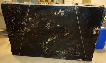 Cosmic Black - Titanium Granite Slab -kitchen-countertops
