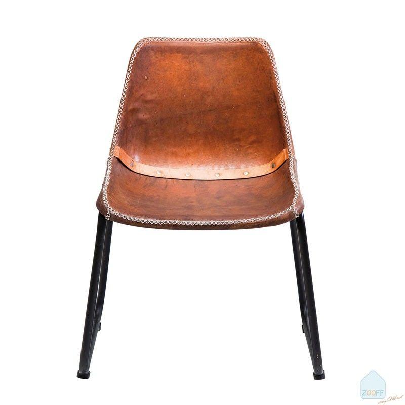 Kare Design Vintage Leren Stoel bruin | eetkamerstoelen ...