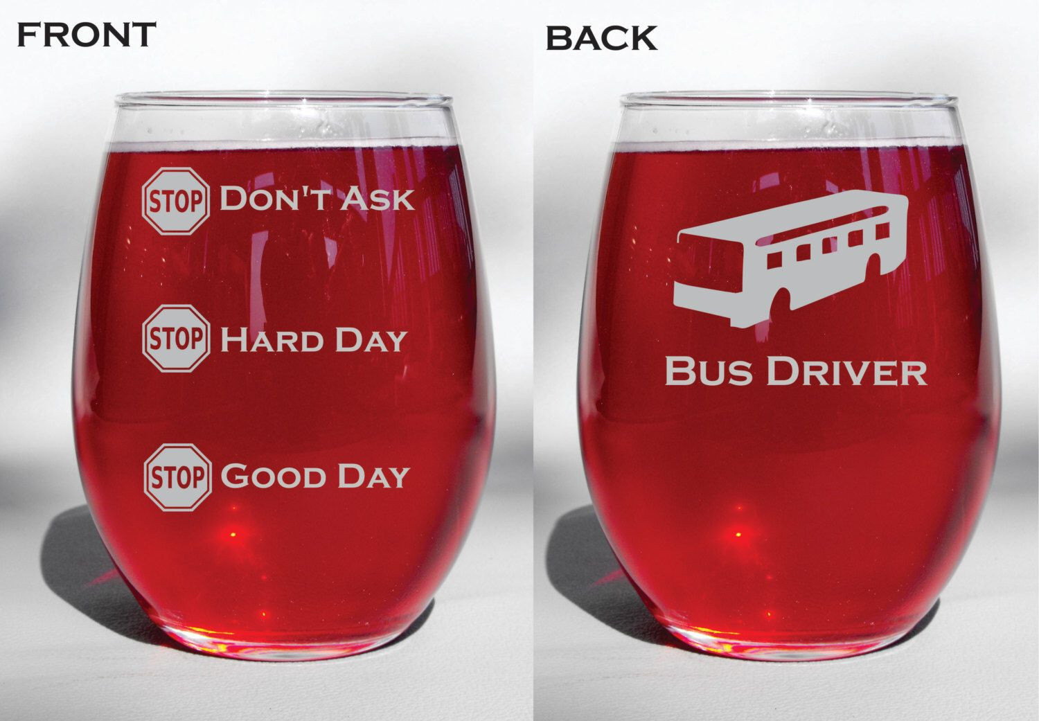 Deep Engraved Personalized Bus Driver Funny Etched Dishwasher Etsy Personalized Wine Glass Wine Glass Dental Assistant