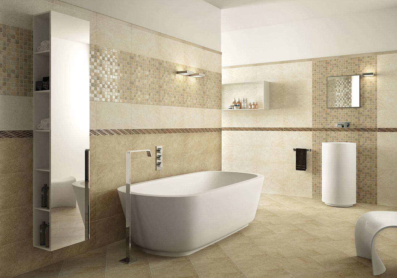 Ceramic Tiles For Bathroom How To Tile A Small Bathroom Designalls In 2020 Bathroom Wall Tile Design Wall Tiles Design Ceramic Tile Bathrooms