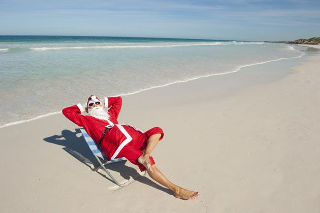 7cc8e2f1c1 Santa Claus resting at the beach (Christmas in Australia ...