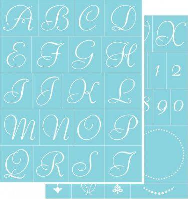 Decorating display accessories elegant alphabet letters uk picture of martha stewart glass silkscreen elegant alpha spiritdancerdesigns Choice Image