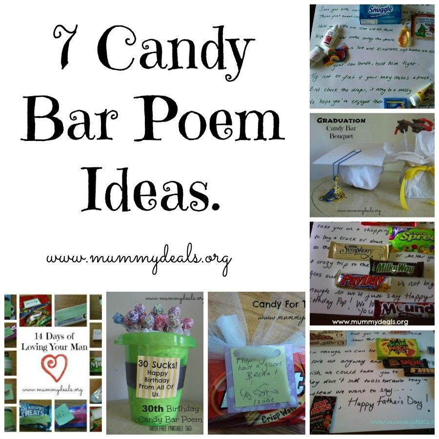 Candy bar Poem Ideas | Gift It! | Pinterest | Candy bar ...