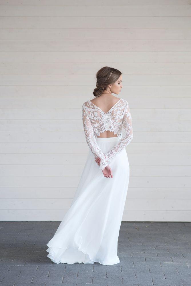 Wedding Dress Suknia Slubna Boho Wedding Dress Rustic Wedding Dress Suknia Slubna Z Rekawem Bridal Dresses Rustic Wedding Dresses Wedding Dress Long Sleeve
