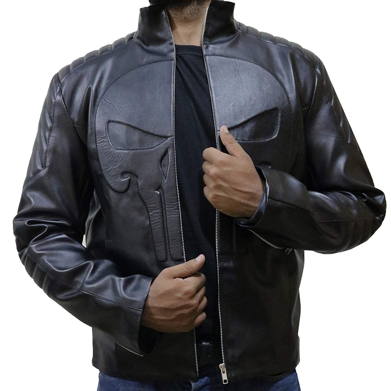 The Jasperz Frank Castle Thomas Jane Punisher Skull Leather Jacket Inspired From The Movie Punisher Leather Jacket Men Leather Jacket Thomas Jane Punisher [ 1500 x 1497 Pixel ]