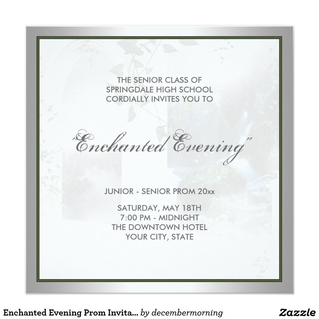 enchanted evening prom invitation template in 2018 prom 2017