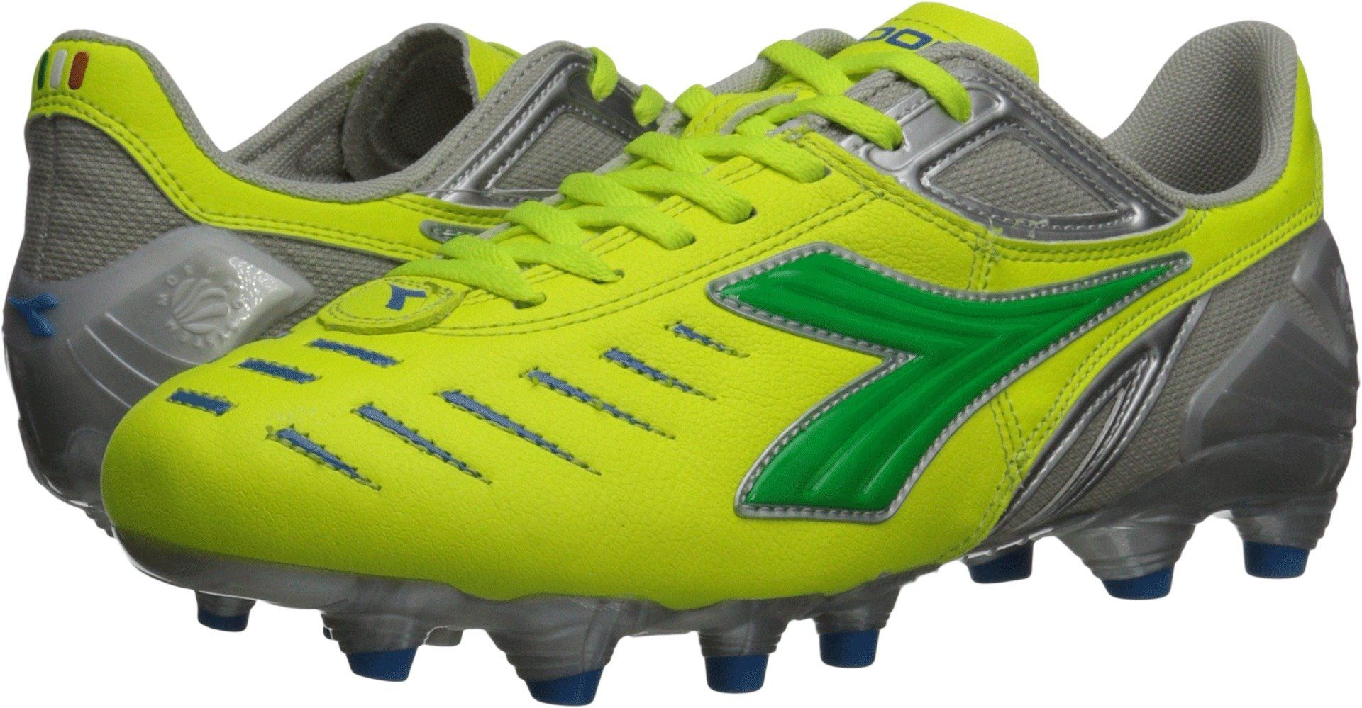 1205670a7 Diadora Womens Maracana L Soccer Cleat Shoes Yellow Flou/Lime/Royal 9 M US  -- More info could be found at the image url. (This is an affiliate link) #  ...