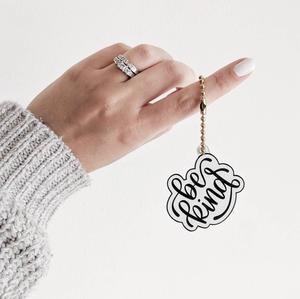 Download Be Kind Keychain | Teacher gifts, Hand lettering, Gifts
