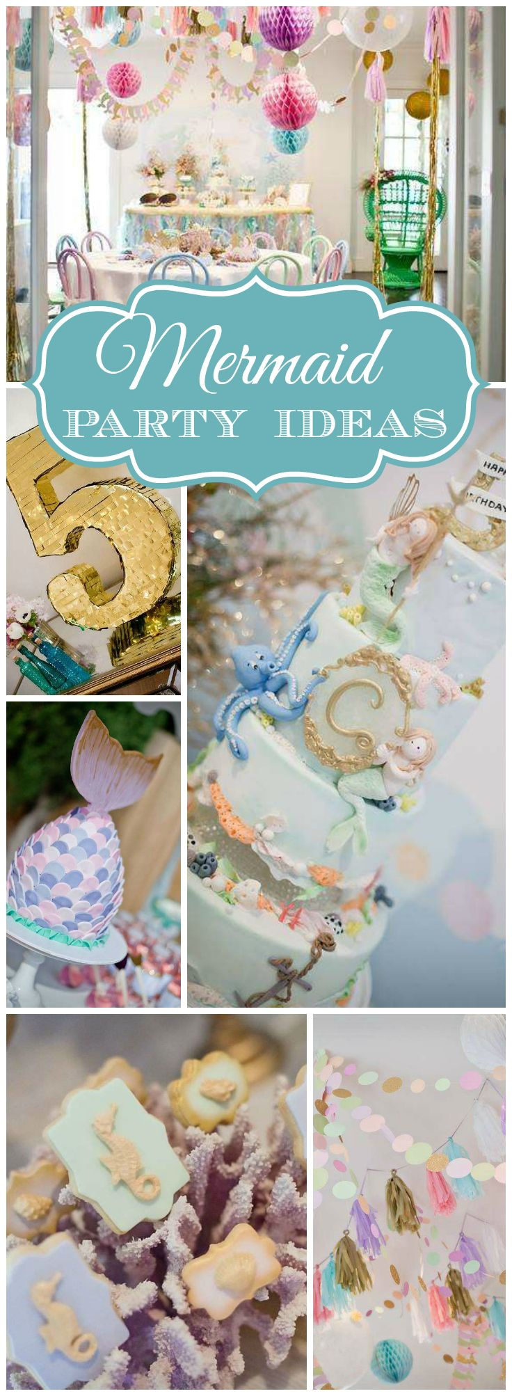 I'm loving this lovely sparkly mermaid party! See more party ideas at CatchMyParty.com! #celebrate