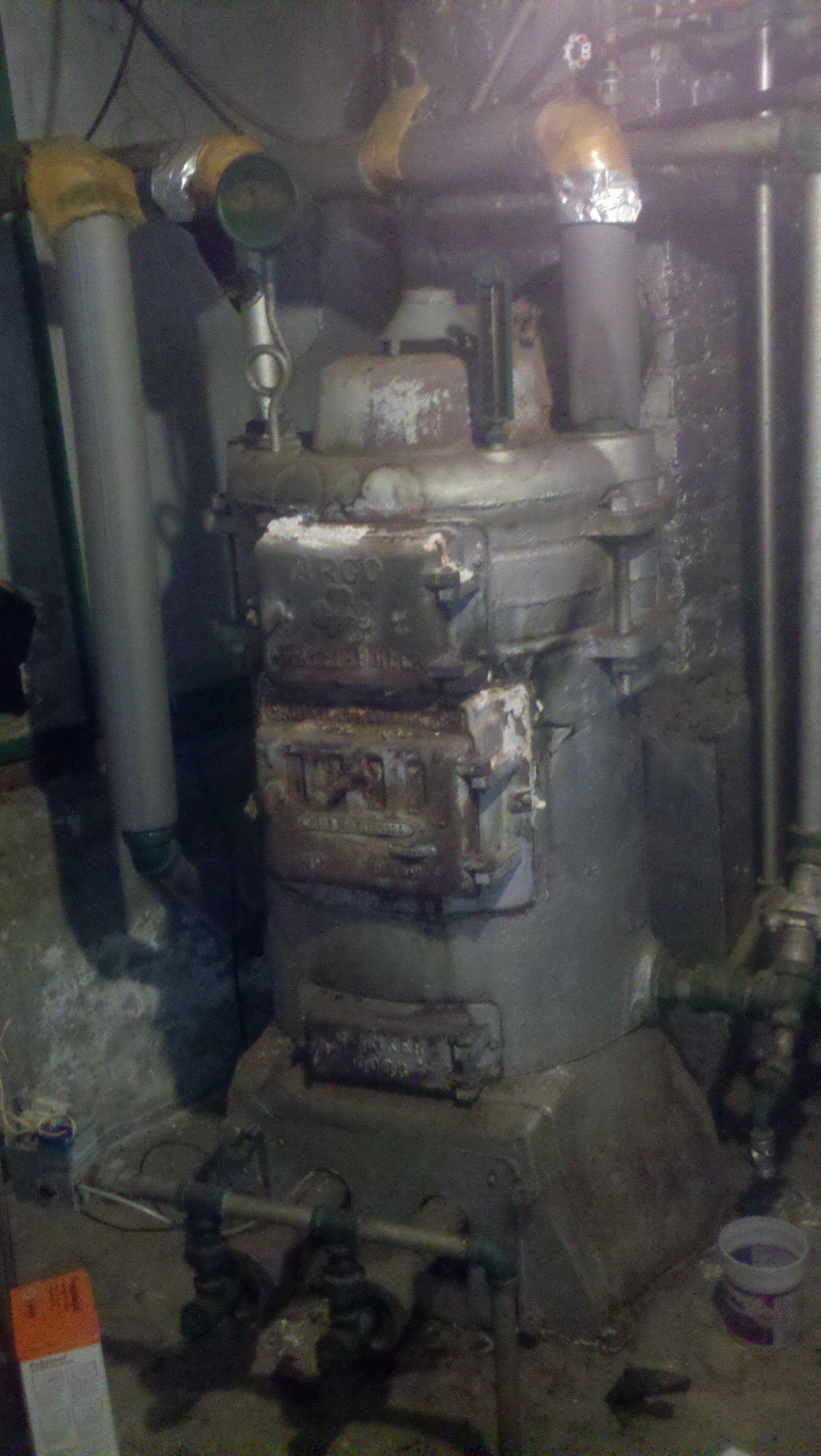 Antique Coal Boiler Monster In The Basement