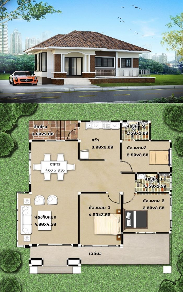 Amazing Three Bedroom One Storey House Designs Pick Your Bet Ulric Home House Construction Plan One Storey House House Plan Gallery