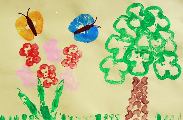 How To Make A Vegetable Print Painting Simple Crafts For Kids