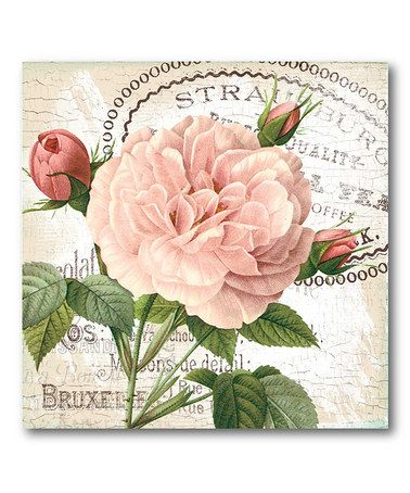 Take A Look At This Shabby Chic Roses I Canvas Wall Art By COURTSIDE MARKET  On