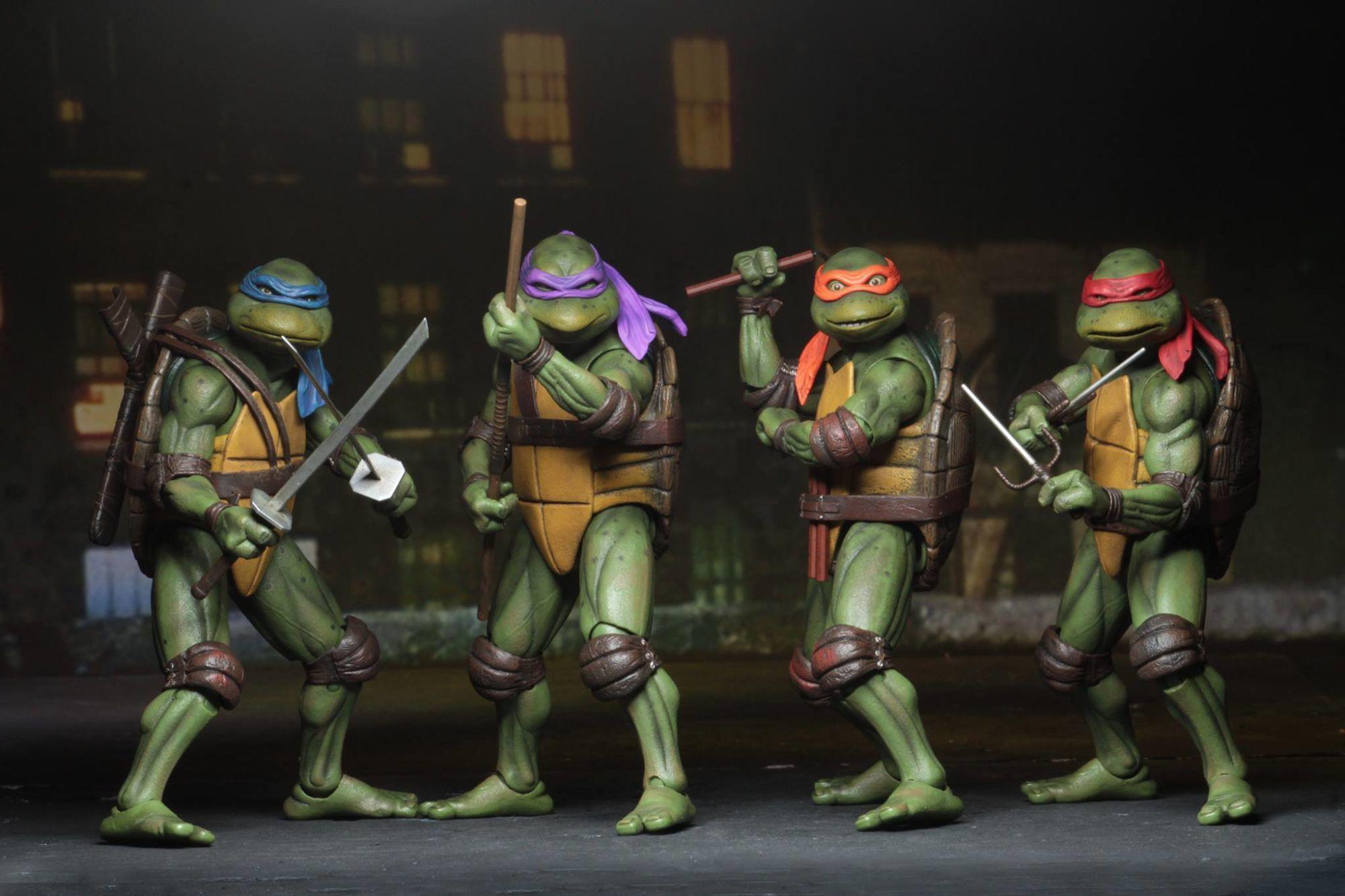 Teenage Mutant Ninja Turtles 1990 Sdcc Exclusives From Neca Teenage Mutant Ninja Turtles Movie Ninja Turtles Movie Teenage Ninja Turtles