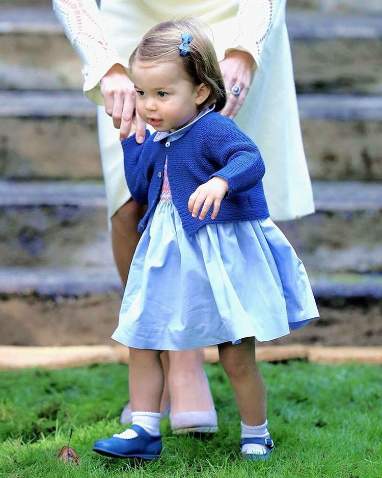 Princess Charlotte At A Children's Party For Military
