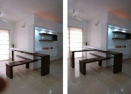 Perfect My Tables Can Fold Into The Wall. |Smart Ideas U0026 Tips| Coooooool!