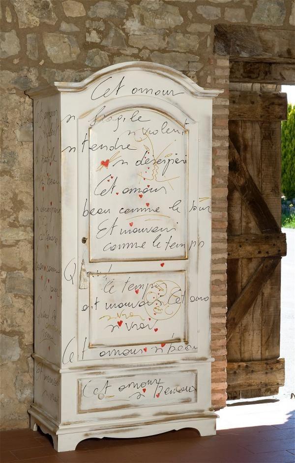 Castagnetti mobili decorati inspiration meubles Pinterest - Peindre Un Encadrement De Porte