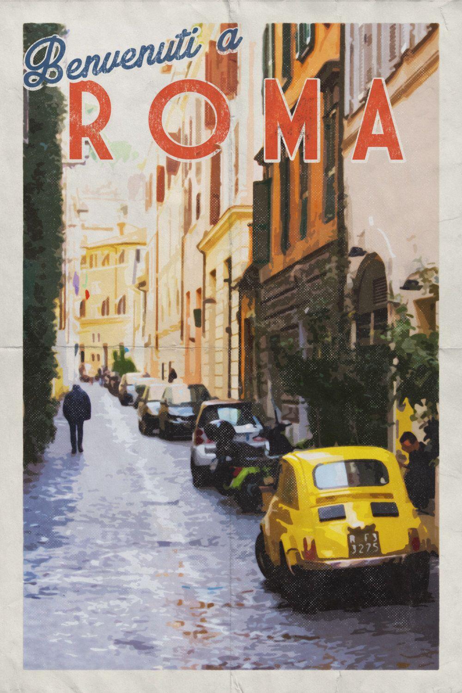 Italy Wall Art rome print. rome poster. rome art. rome italy. rome travel poster