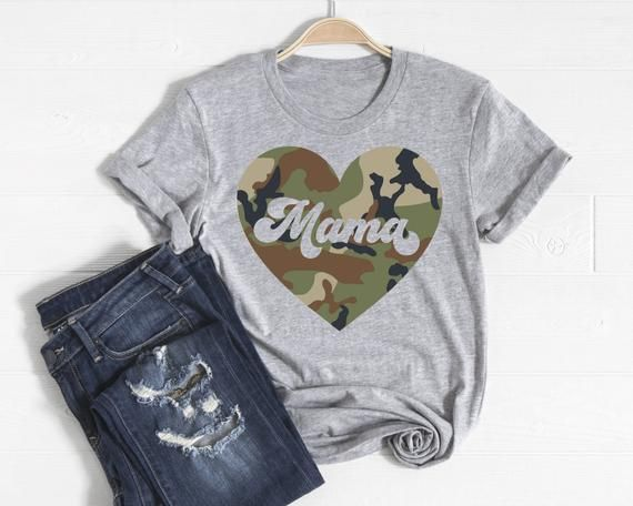 Cute and Trendy Camo Mama Shirt.-TriBlend-Unisex Sizing