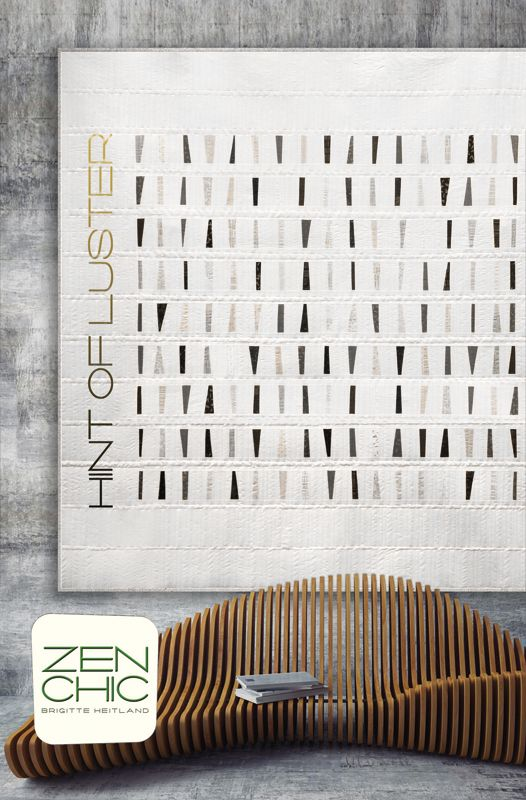 This Minimalist Modern Quilt Pattern By Zen Chic Using The