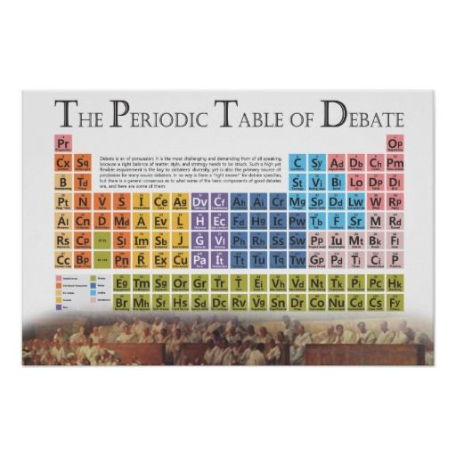 The periodic table of debate posters education posters pinterest debate posters the periodic table urtaz Image collections