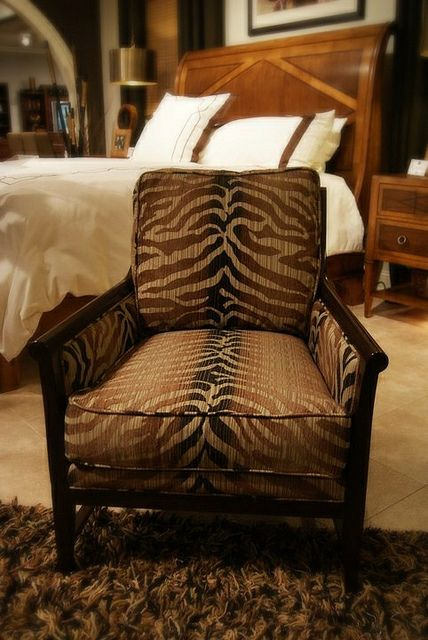 This Tiger Striped Chair Would Make A Great Reading Chair In Any Master  Bedroom Or A