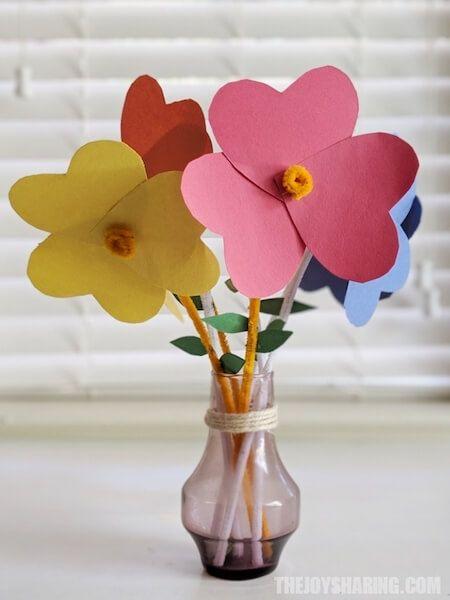 Heart Paper Flower Craft