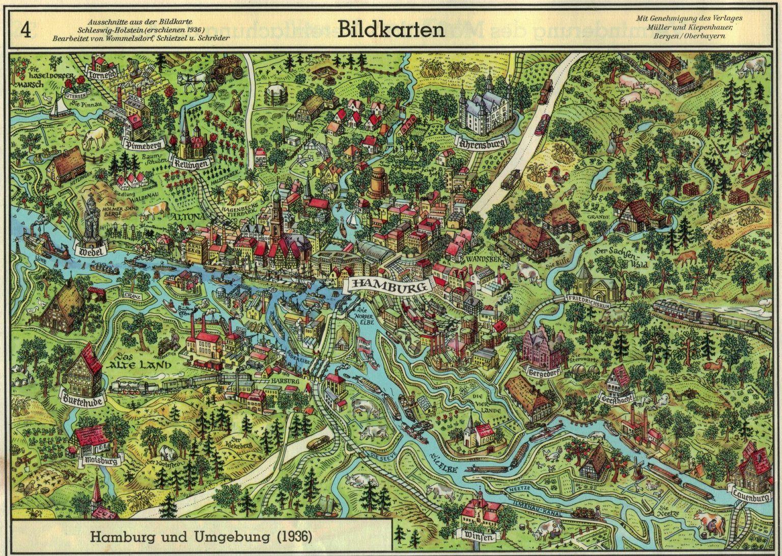 Hamburg Karte Farbfilmaufnahmen Aus Den 30ern 40ern Hamburg