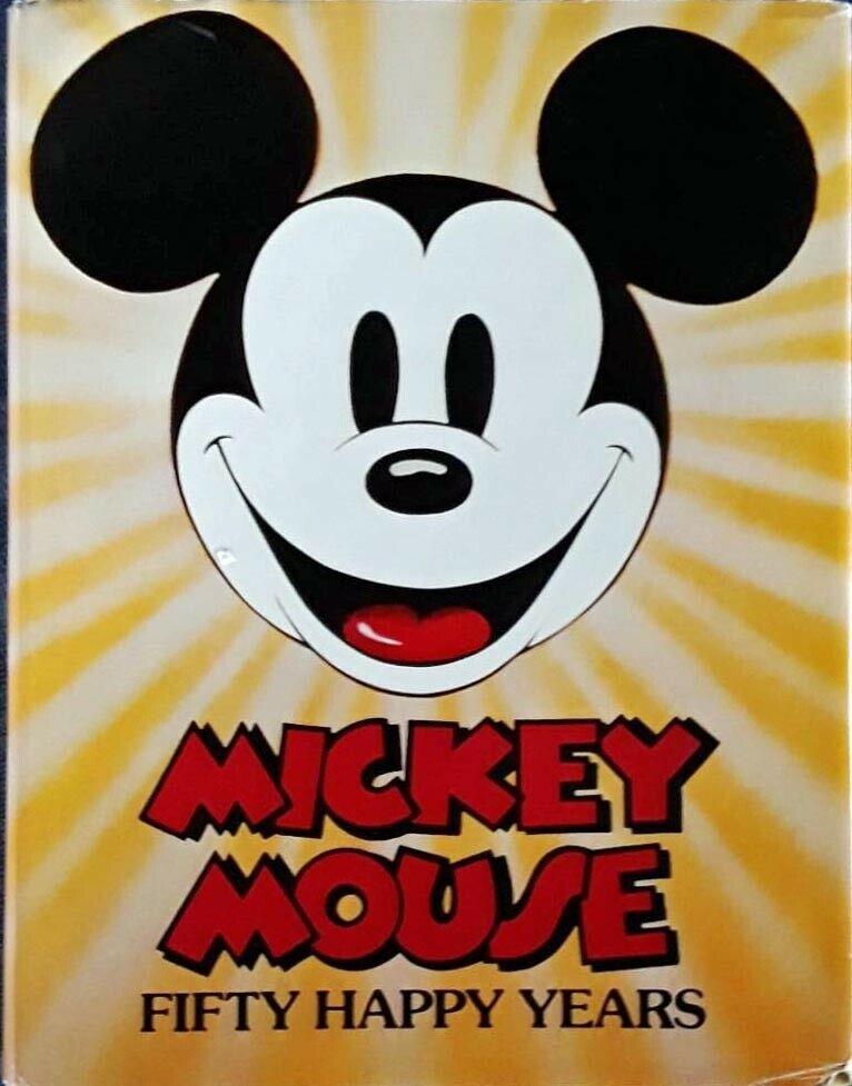 MICKEY MOUSE FIFTY HAPPY YEARS 255 PAGE HARDBACK + DJ