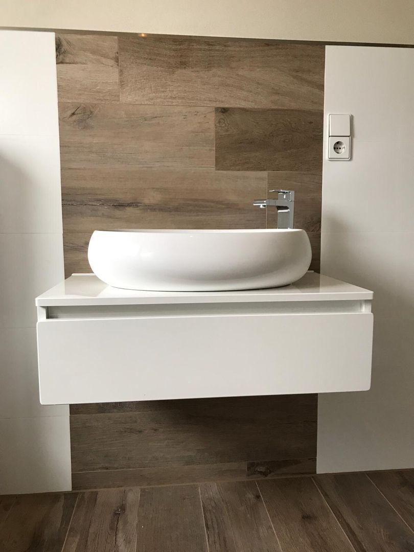Dorstenkeller Badezimmer Moderne Waschbecken Badezimmer Holzoptik