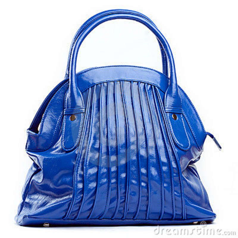 blue objects | Blue Female Bag Stock Photography - Image