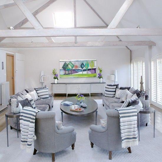 Erstaunlich, Grau Und Weiß Wohnzimmer Ideen Grau ...