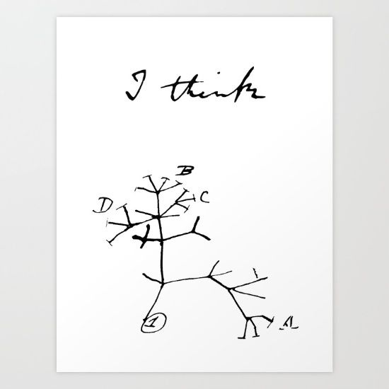 Darwin - Tree of Life - I Think Art Print   Room