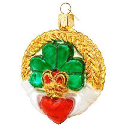 - Old World Christmas Claddagh Irish Glass Ornament