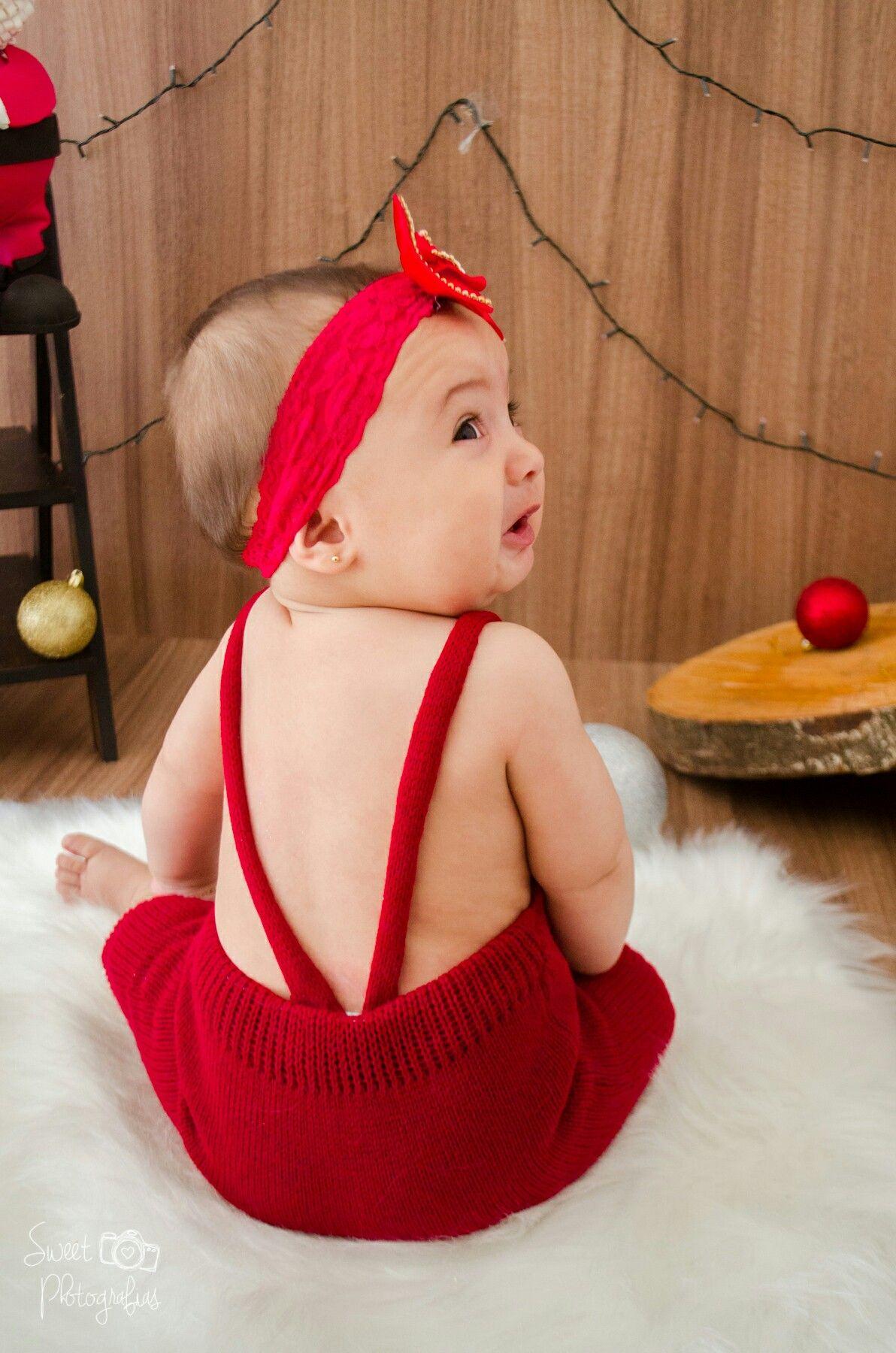 Ensaio de Natal  Beatriz 8 meses 😍😍❤