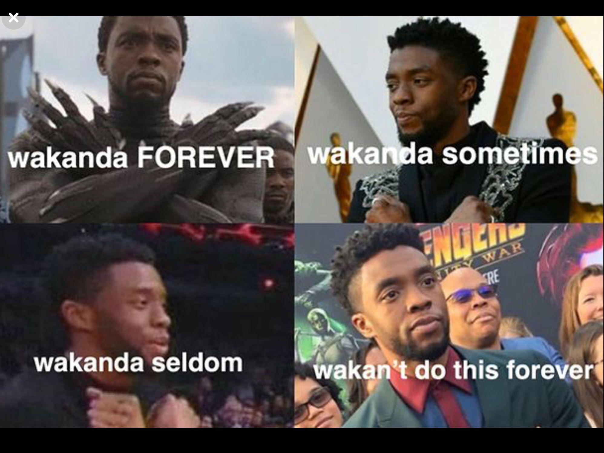 Wakanda forever Chadwick Boseman t'challa black panther ...