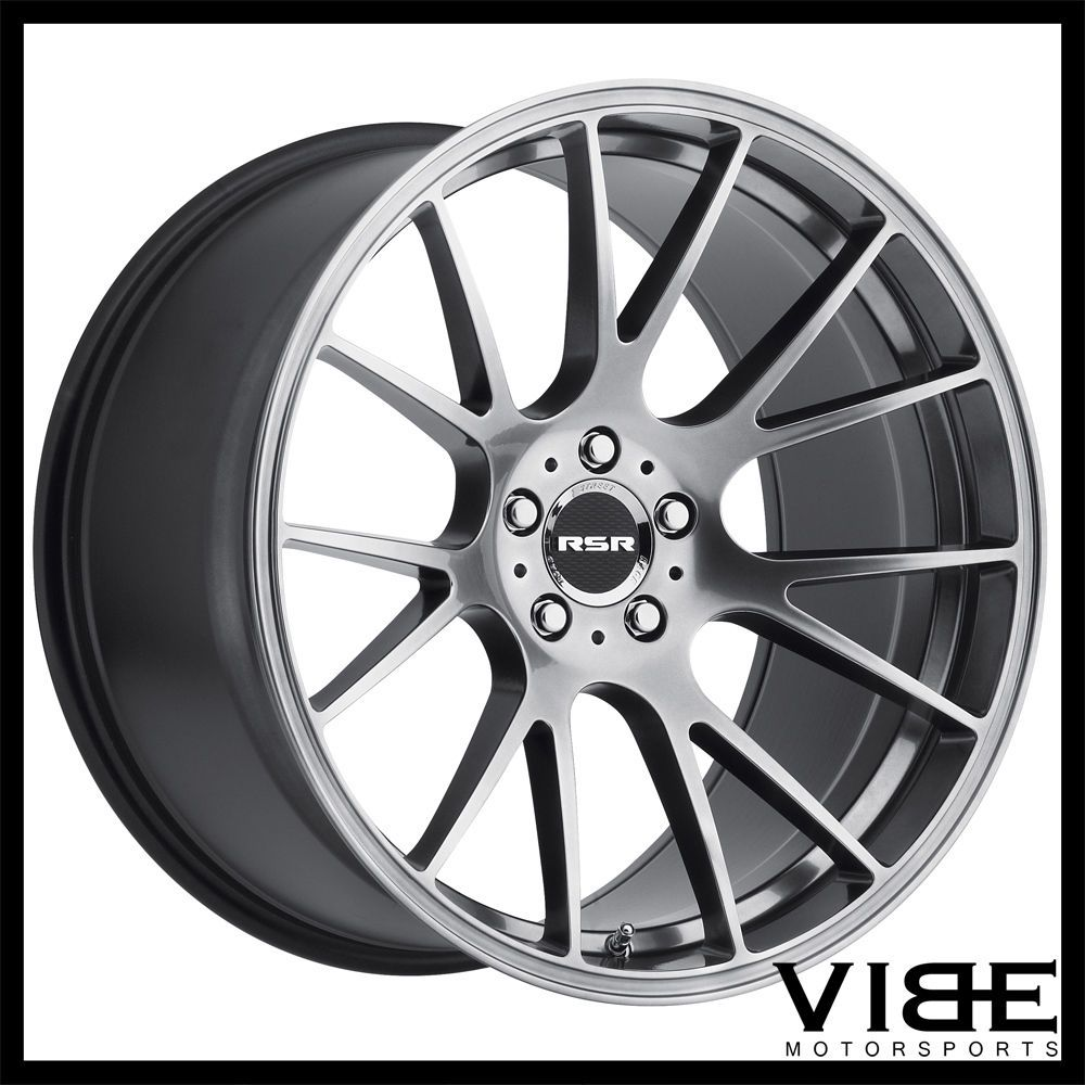 """20"""" RSR R801 HYPERBLACK FORGED CONCAVE WHEELS RIMS FITS"""