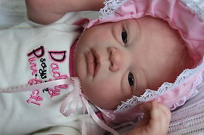 REBORN BABY GIRL CELINE( SCULPED BY EVELINA WOSNJUK)LOOKS SO REAL A MUST SEE