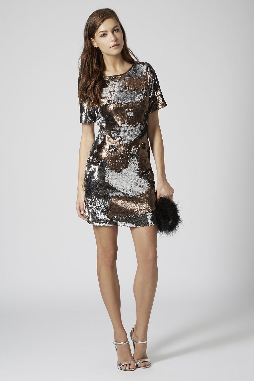 Two Tone Sequin Dress Bodycon Dress Topshop Bodycon Dress Bodycon Dress Polyvore