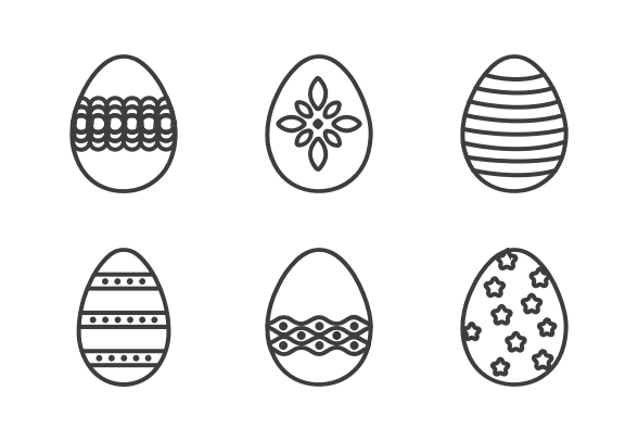Easter Egg Outline Icons By Amit Jain Easter Egg Outline Easter Eggs Outline