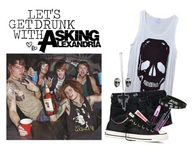 """LETS GET DRUNK WITH AFUCKINGA"" by drunk-inlove ❤ liked on Polyvore featuring Bullhead Denim Co., Converse, King Baby Studio and Aéropostale"