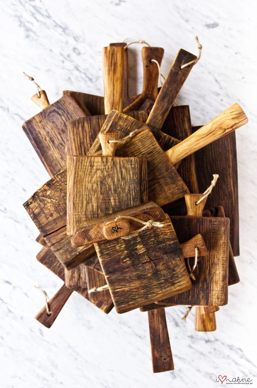 old oak wood serving & cutting boards