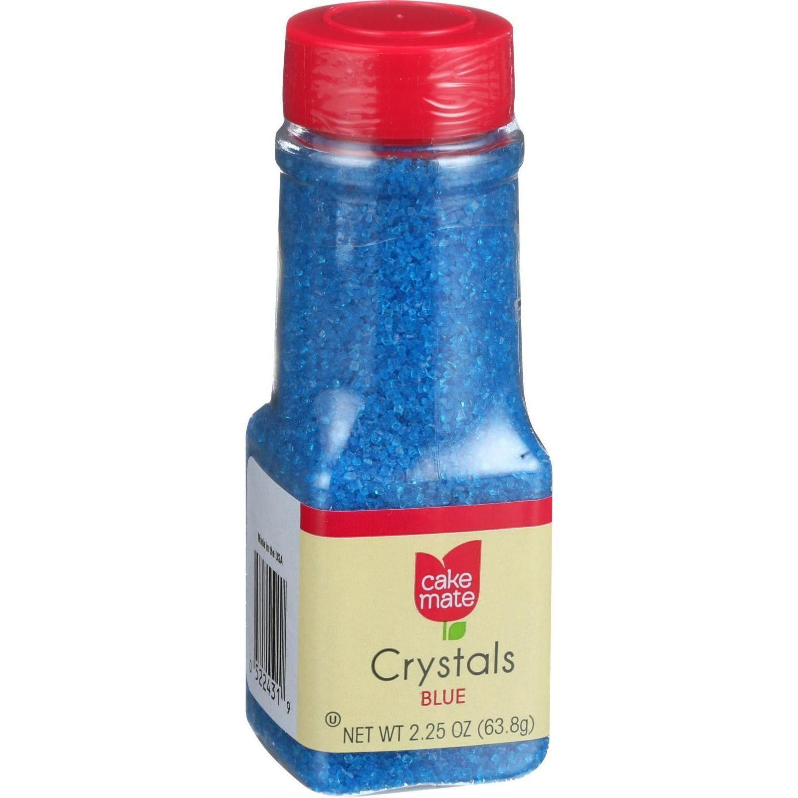 Cake Mate Decorating Decors - Crystals - Blue - 2.25 Oz - Case Of 6 ...