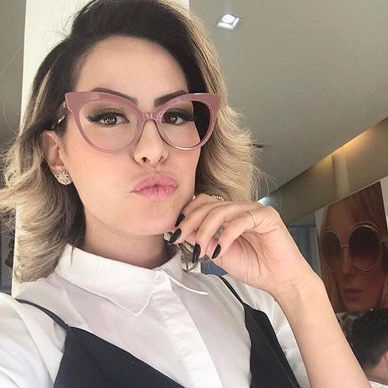 f56ea3a26cd0 Kottdo Fashion Brand Cat Eye Glasses Women Plain Clear Lens Eyeglasses  Retro Eyewear High Quality Vintage Optical Glasses Oculos
