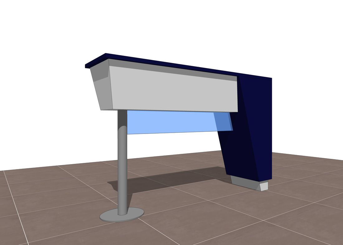 Exhibit & Retail workstation concept Free 3D SketchUp